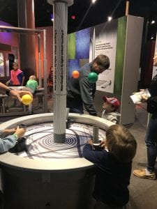 Ball Floating at Discovery Place