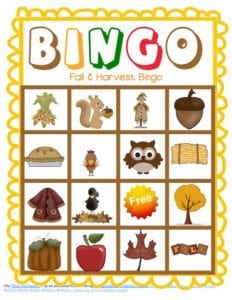 Bingo Game Fall Version