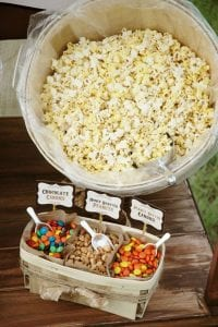 Popcorn Setup For Fall Party