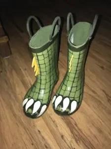 Dinosaur Rain Boots from Target