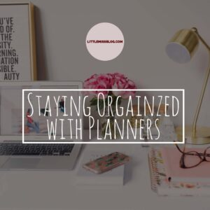 Staying Organized with Planners littlemissblog.com