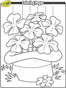 Printable Coloring Pages for St Patrick's day littlemissblog.com
