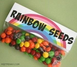 Rainbow Seeds for St Patricks Day littlemissblog.com