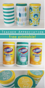 Clorox Wipes for Teachers Appreciation Gifts Easy To Do. Littlemissblog.com