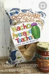 Nacho Average Teacher Teachers Appreciation Gifts littlemissblog.com