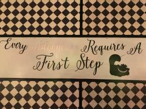Every Adventure requires a First Step Quotes for Table littlemissblog.com