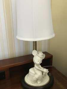 White Ceramic Minnie Lamp