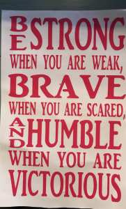 Be Strong Quote for girls