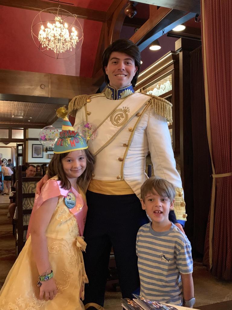Prince Eric at Rapunzel Breakfast