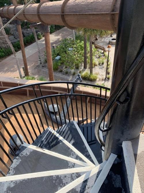 Slide Stairs to Water Slide at Disneys Beach Club Resort