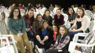 My small group-with girls from college campuses all over the US!