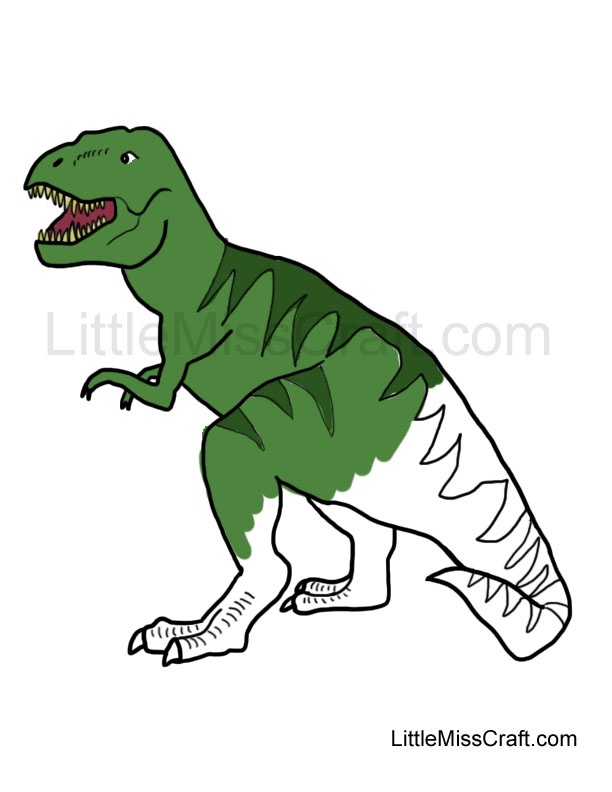 crafts tyrannosaurus rex coloring page
