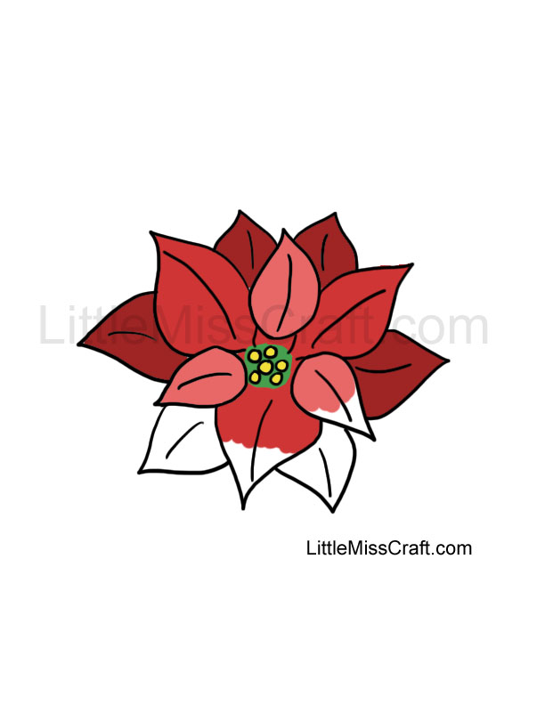 crafts poinsettia coloring page