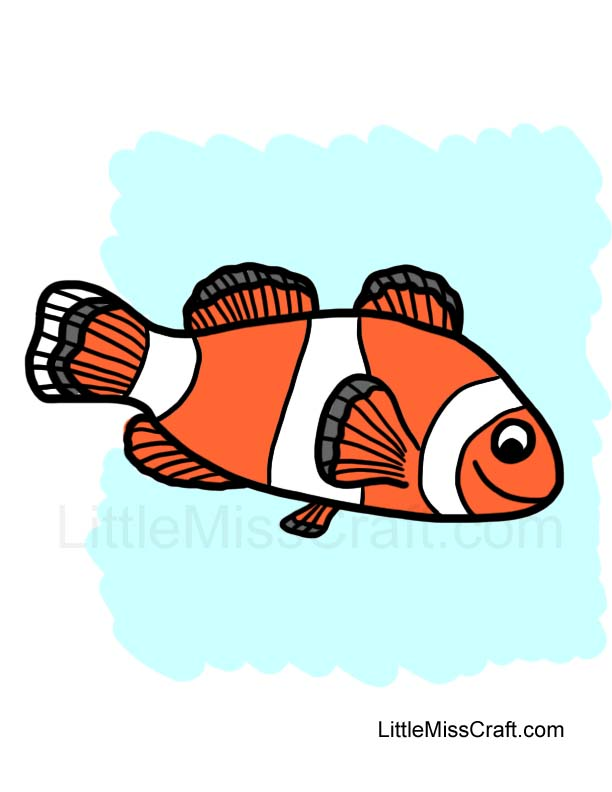 crafts clownfish coloring page