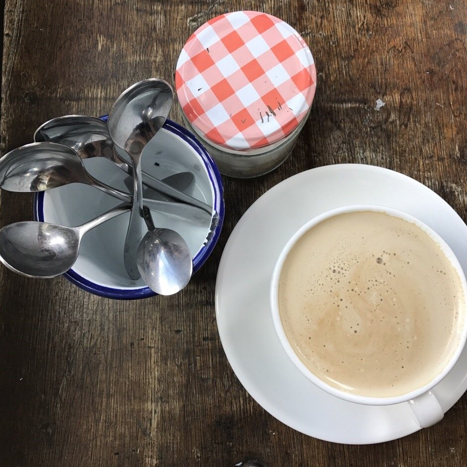 the little things in life latte and spoons