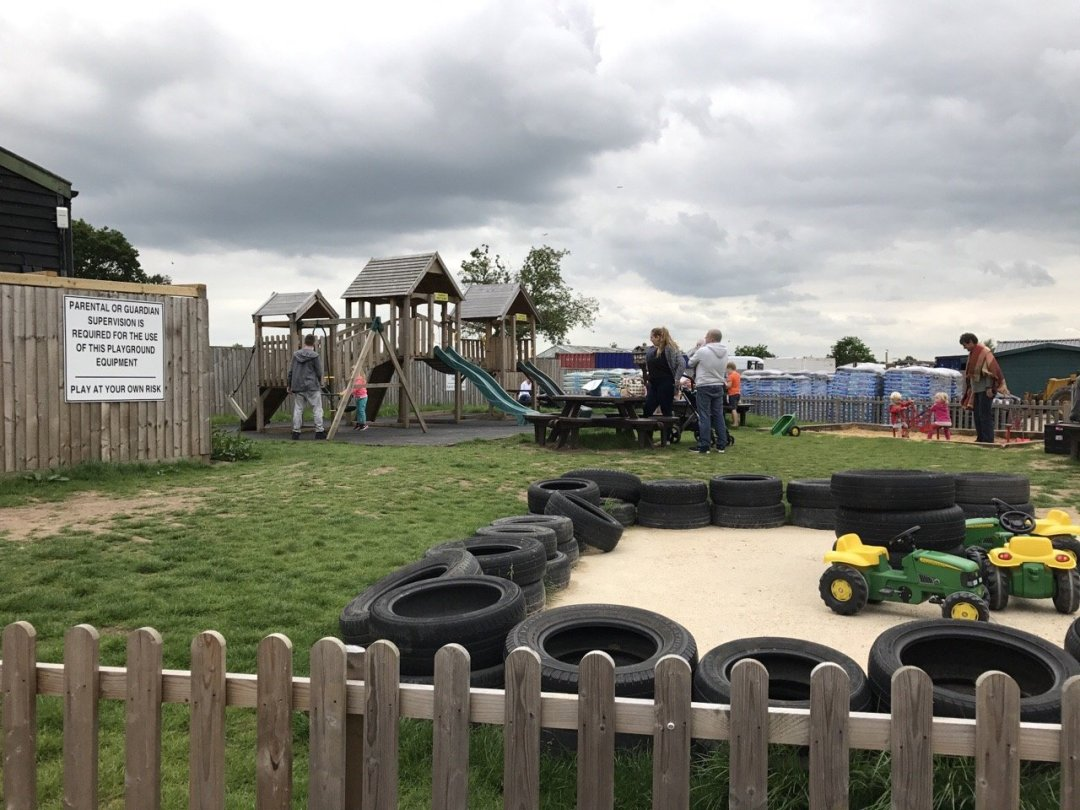 Farms in Essex - White Elm Petting Farm outdoor play area