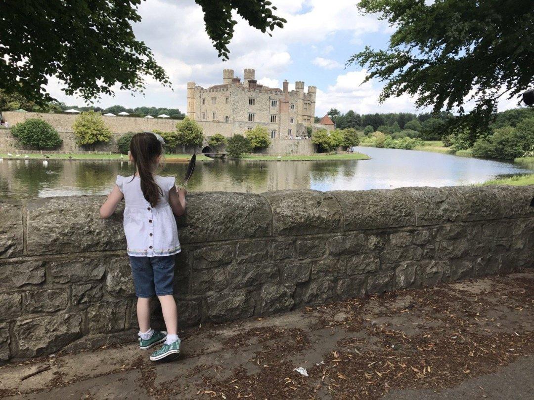 Leeds Castle Eden looking at the castle
