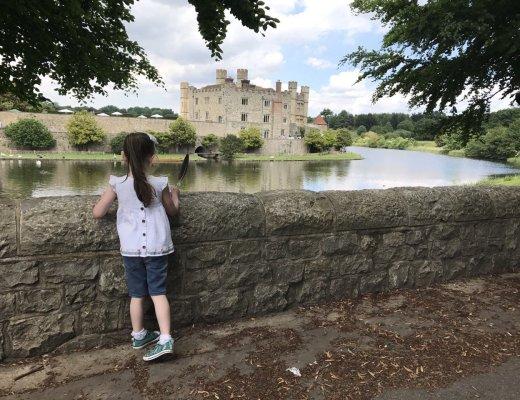 Leeds Castle Eden looking at Castle