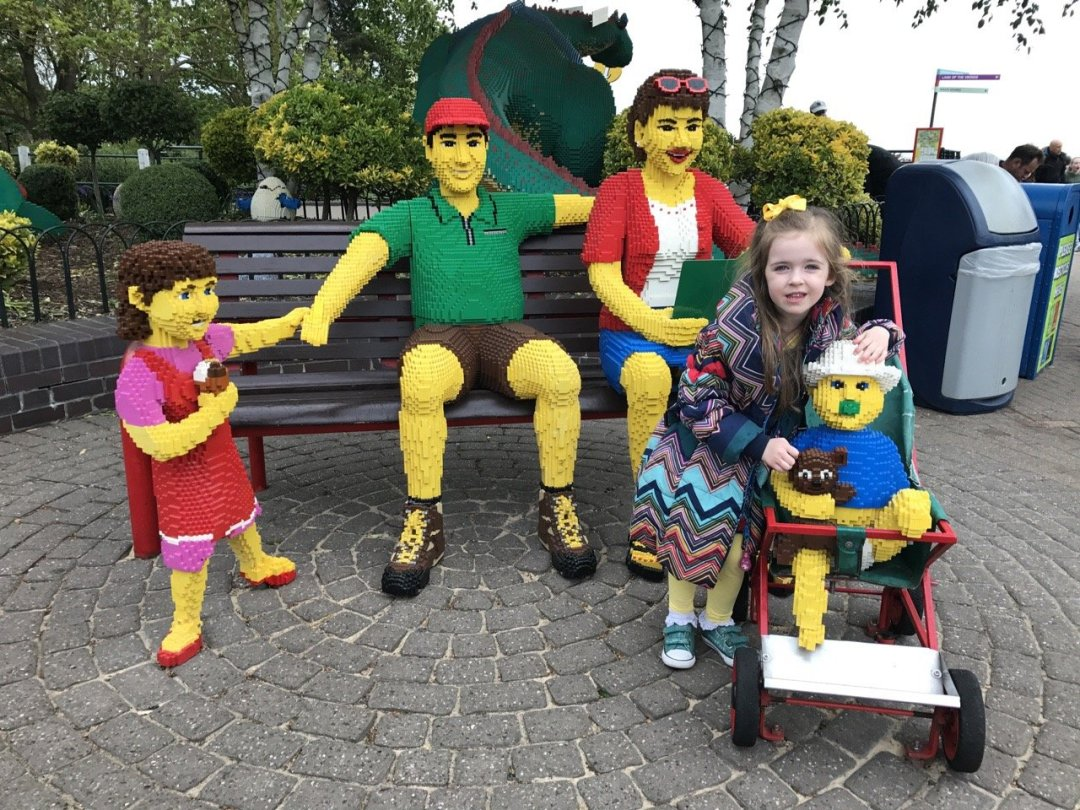 Merlin Passes - Eden with lego family characters