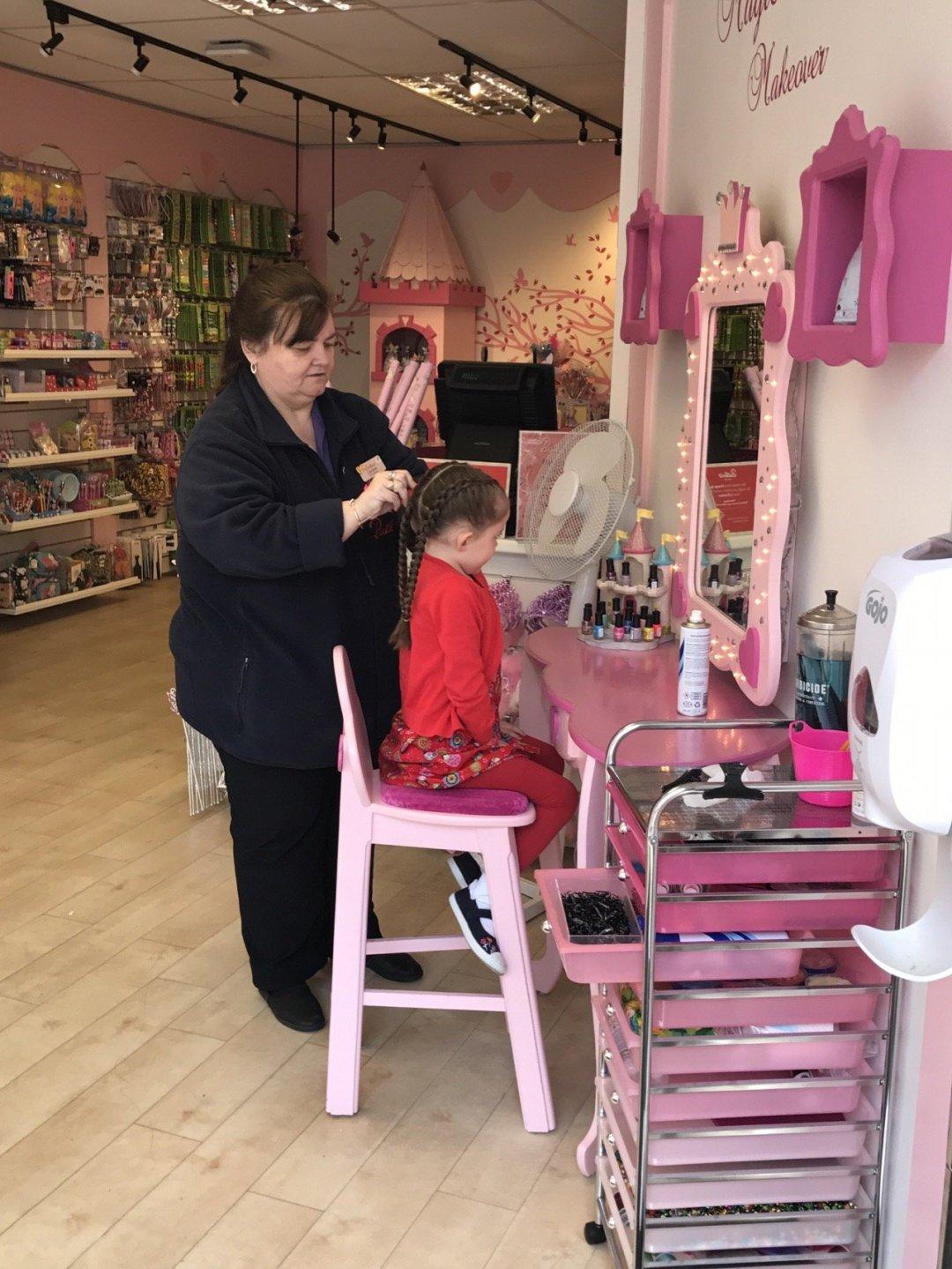 fairy princess makeover Hair braided