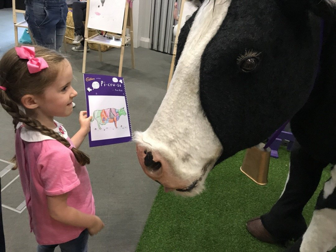 Cadbury's Adopt a Cow Showing Buttons her pic