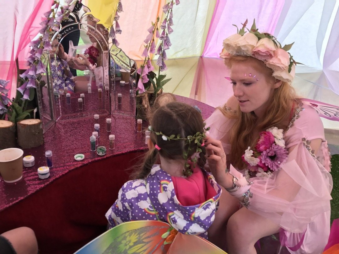 Fairy & Elf Festival Fairy face painting