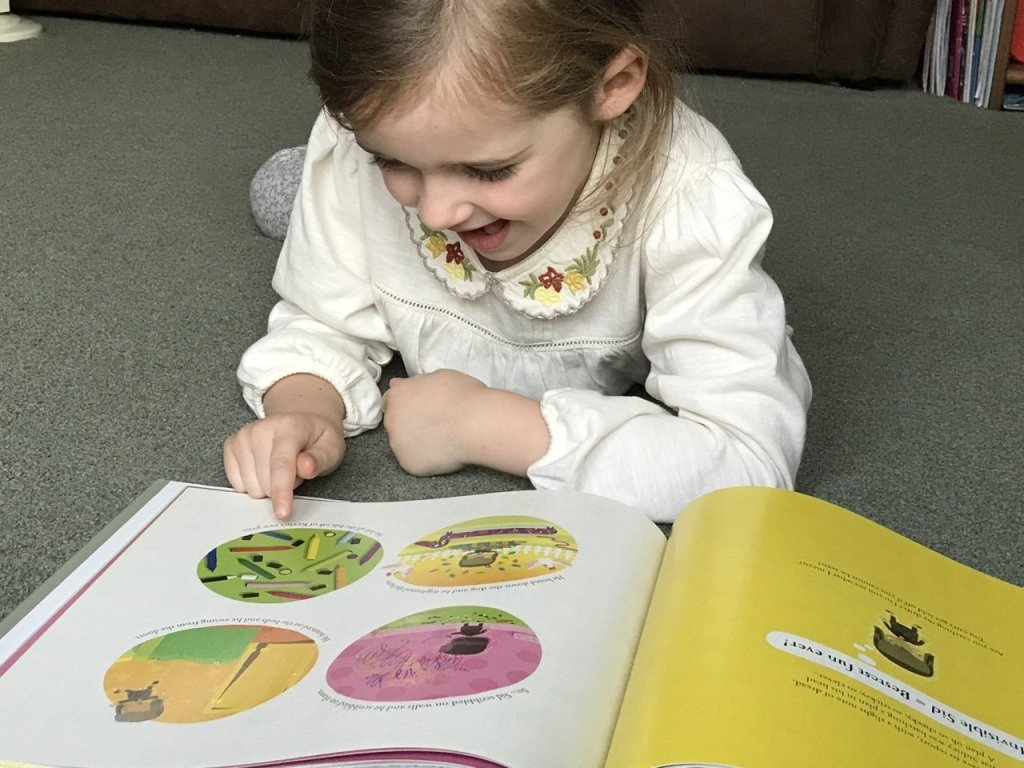 Reading kids books,  Things to do at home with the kids