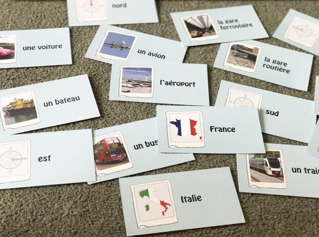 One Third Stories flash cards french