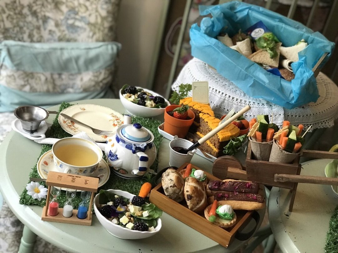 A Tale of Peter rabbit themed afternoon tea