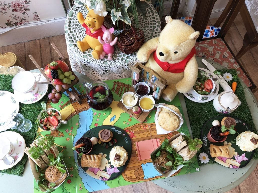 Top view Silly Old Bear Themed Afternoon Tea