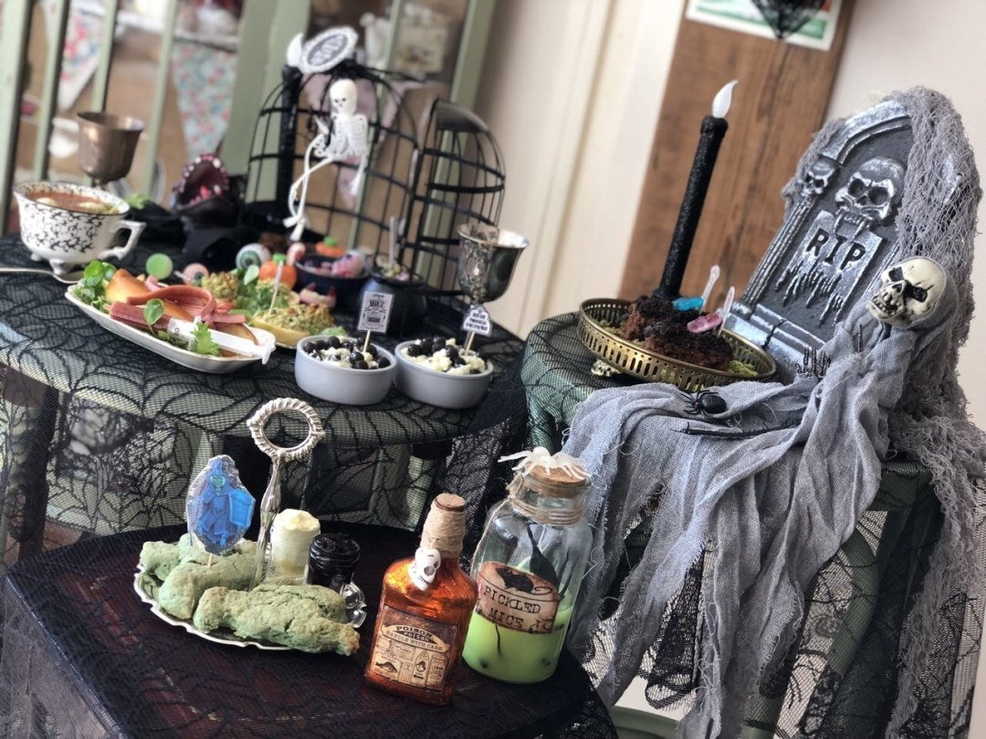 View of Haunted Mansion Halloween Afternoon Tea