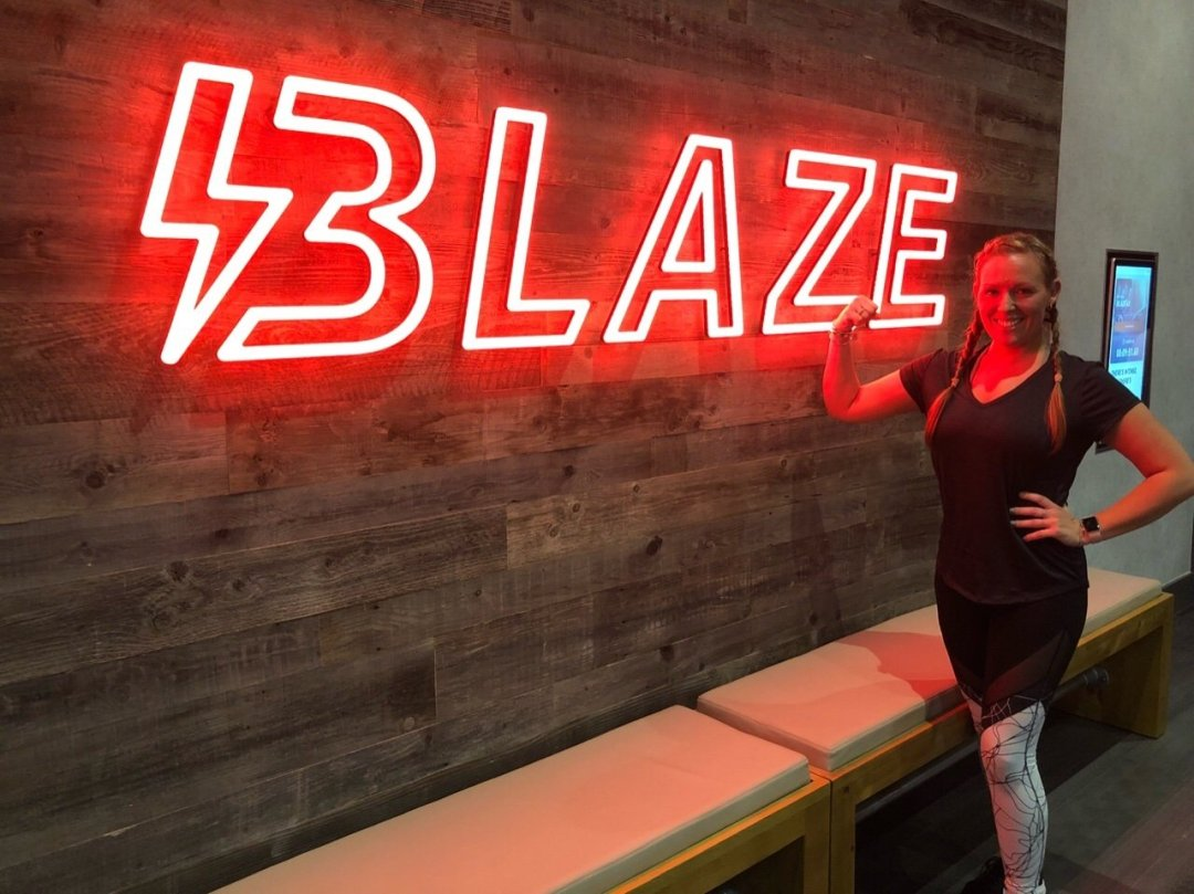 Me outside my first blaze session David Lloyd Blaze