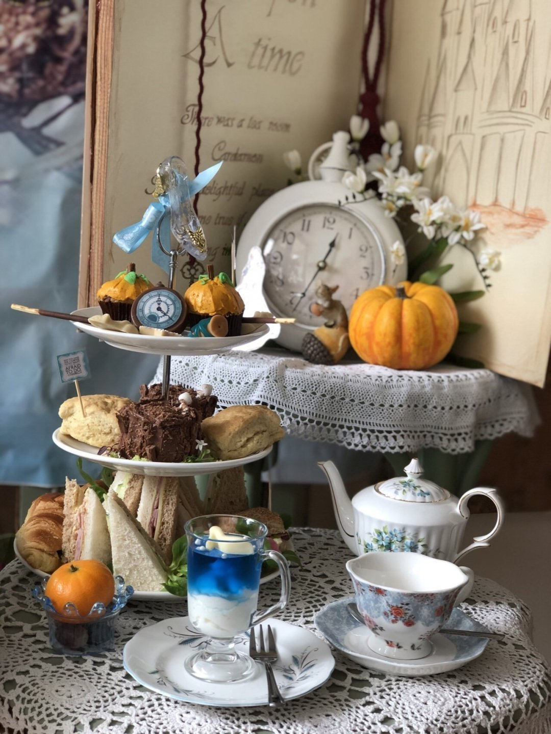 Cinderella themed afternoon tea in Essex