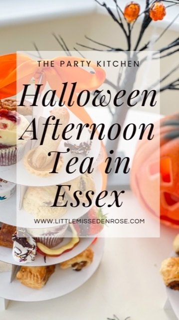 The Party kitchen Halloween afternoon tea delivery in Essex