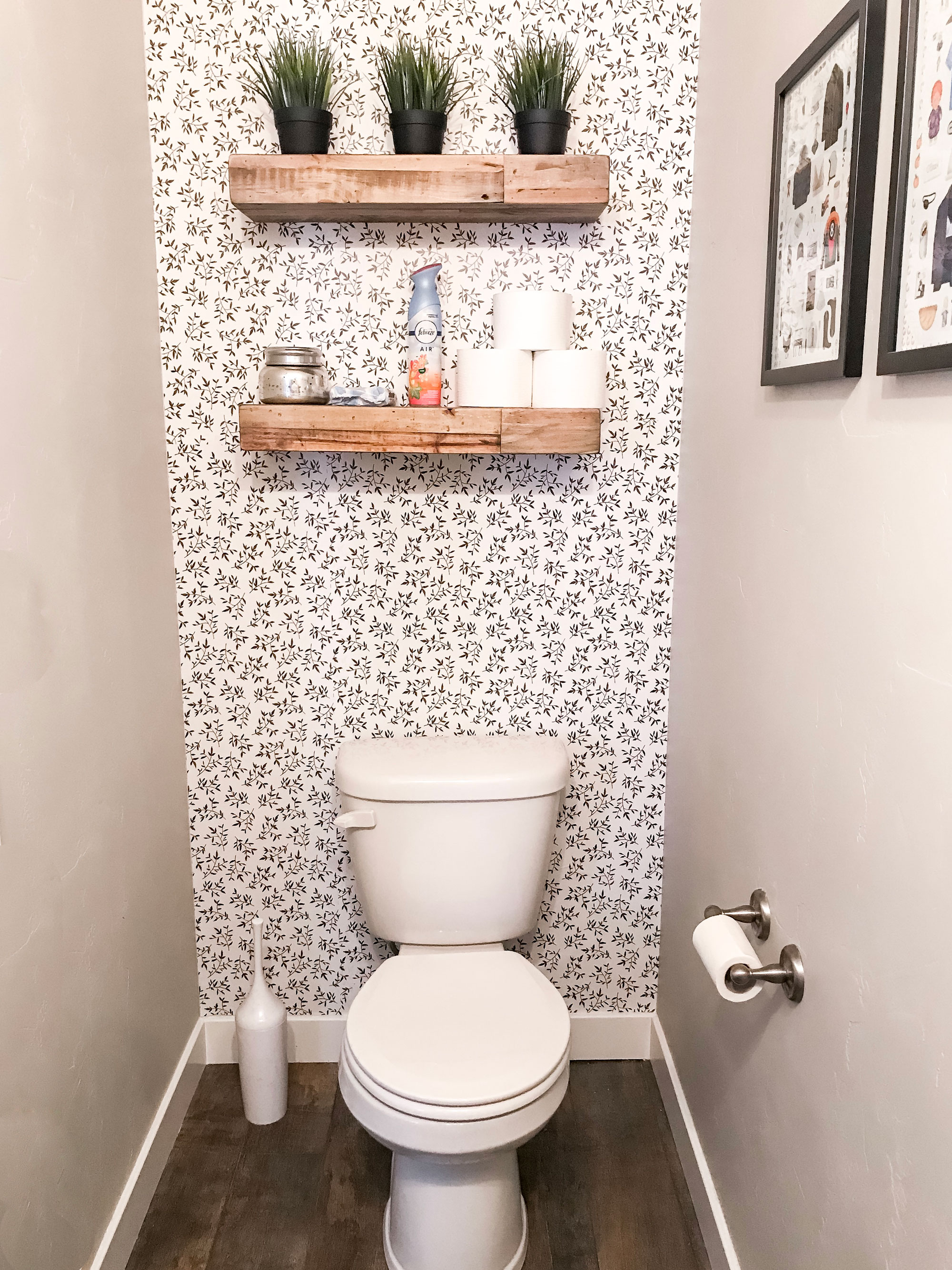 Easily Transform A Small Bathroom With Removable Wallpaper Little Miss Fearless