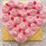 Assembled Chocolate Raspberry Heart Cake