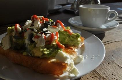 "... avocado on toast at ""The Peanut Vendor"""