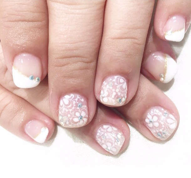 Pretty Gelish Nails From Home Nails Little Miss Honey