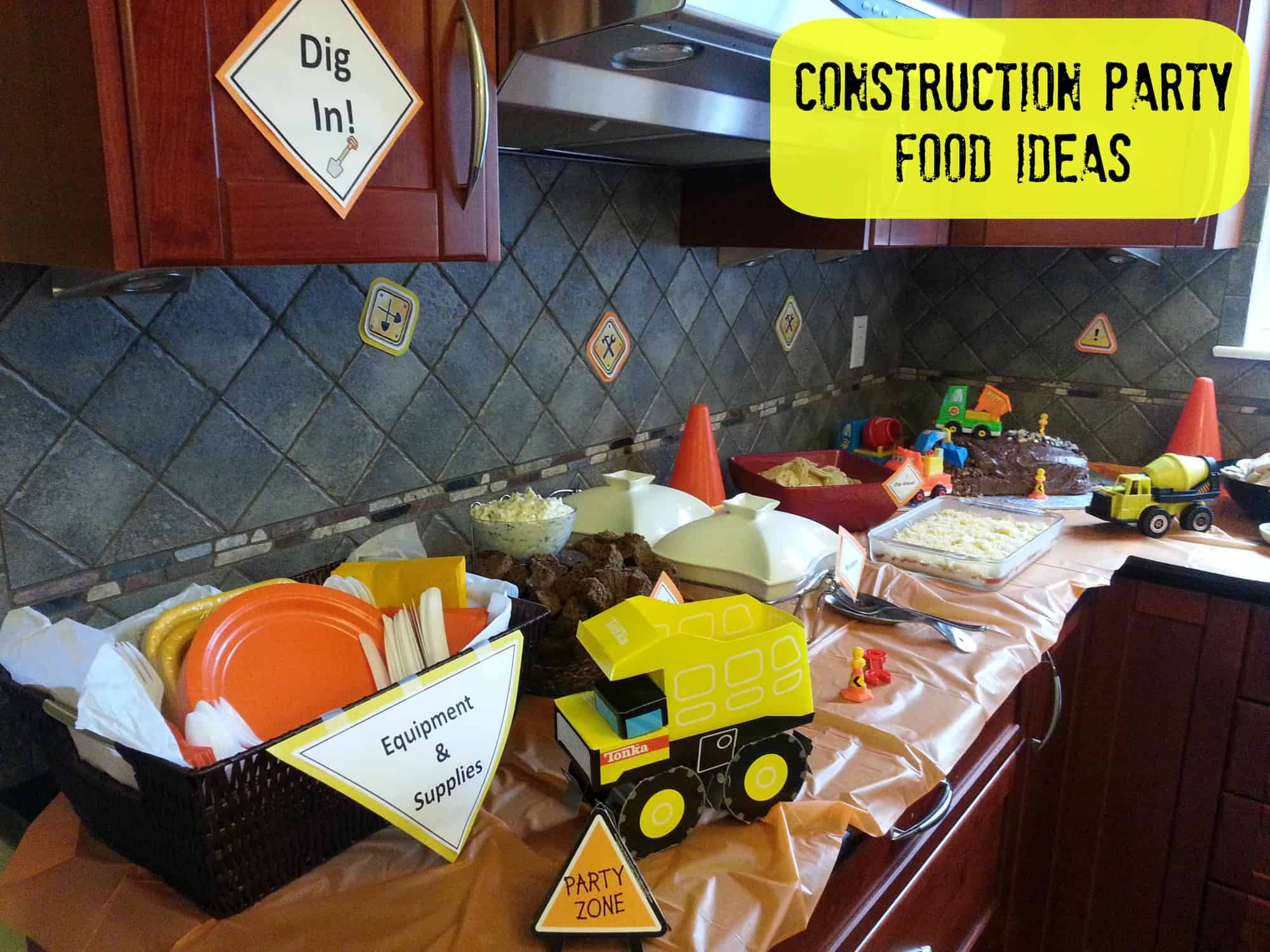Kids Birthday Party Ideas Food For A Construction Birthday Party The Exploring Family