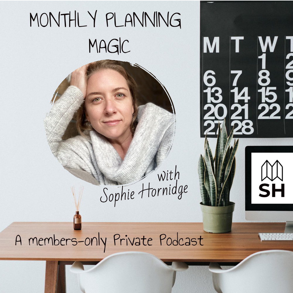 Podcast cover for the Monthly Planning Magic Private Podcast Show