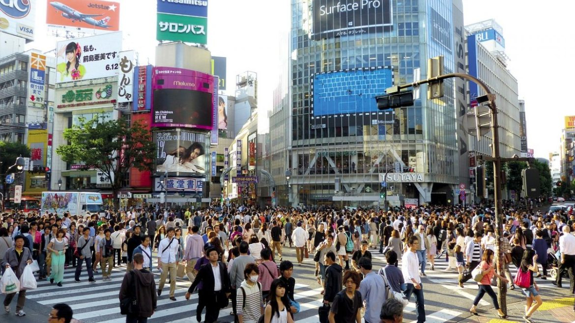 Shibuya Crossing in wheelchair accessible Tokyo