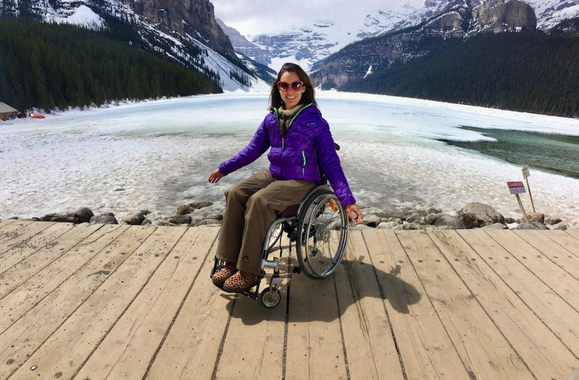 Lake Louise in a wheelchair