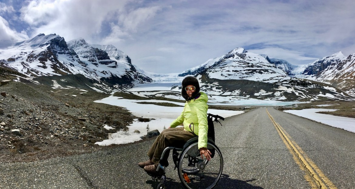 Columbia Icefield in a wheelchair, Icefield's Parkway