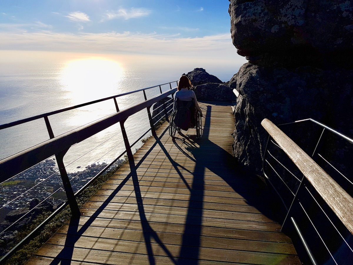 Wheelchair-accessible round course on Table Mountain