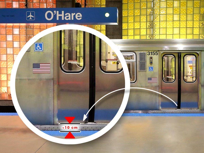 Step CTA Blue Line O'Hare Station | Little Miss Turtle
