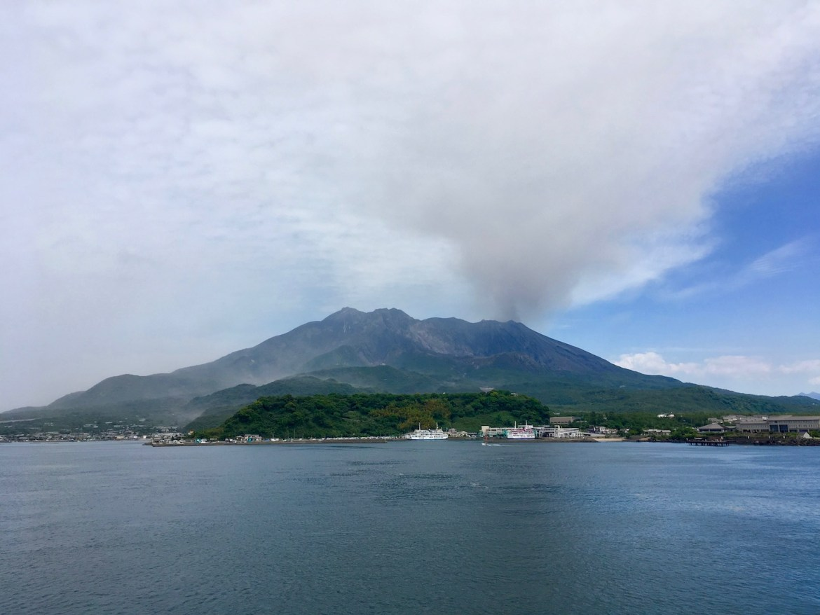 Active Sakurajima Volcano | Little Miss Turtle
