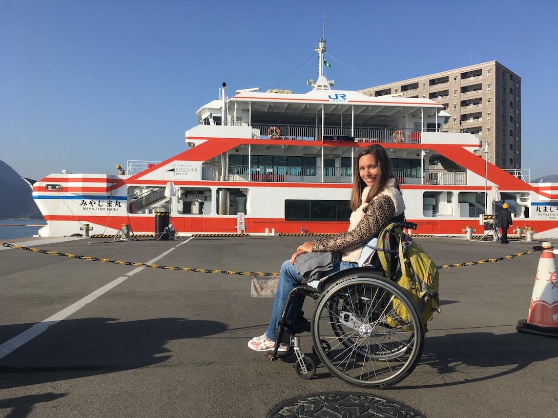 Wheelchair accessible JR West Miyajima Ferry | Little Miss Turtle