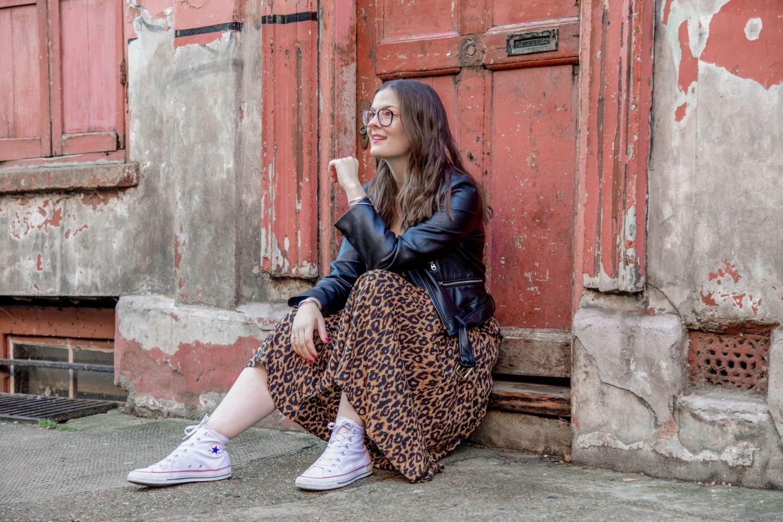Princelet Street Kate Winney Little Miss Zara Leopard Print Dress Leather Jacket
