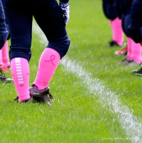 football, think pink, pink socks, pee wee football, breast cancer awareness