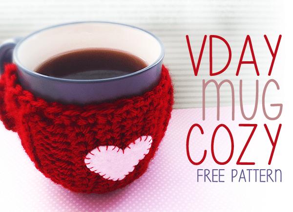Free #Crochet Pattern - Valentine's Day Mug Cozy